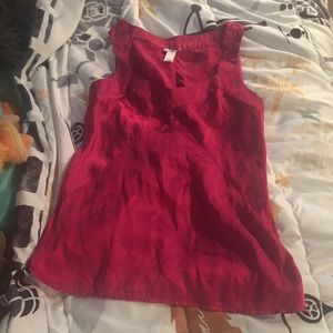Pink silky old navy camisole